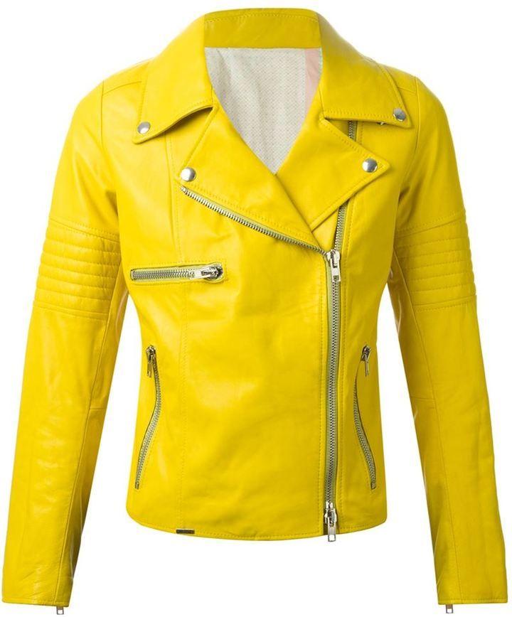 super cute outlet boutique clearance sale GELBE LEDERJACKE #gelb | Lederjacke | Gelbe lederjacke ...