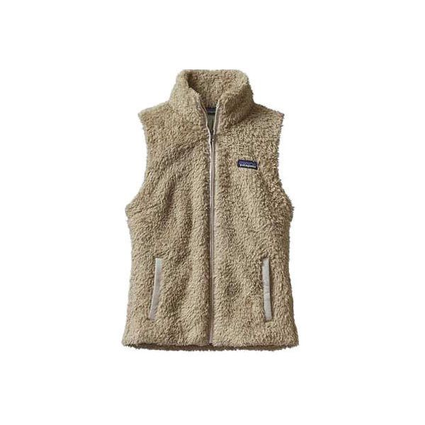 Women's Patagonia Los Gatos Cozy Collar Vest (850 SEK) ❤ liked on Polyvore featuring outerwear, vests, khaki, zip up vest, patagonia, fuzzy vest, khaki vest and patagonia vest