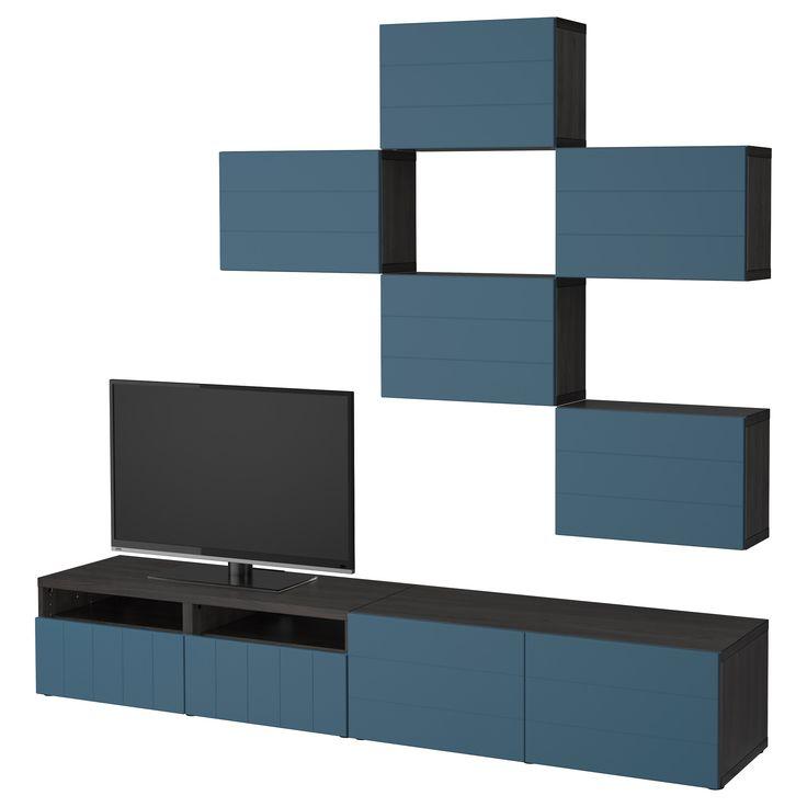 BESTÅ, TV-Möbel, Kombination, schwarzbraun Jetzt bestellen unter: https://moebel.ladendirekt.de/wohnzimmer/tv-hifi-moebel/tv-waende/?uid=92f128dd-ed41-5022-a22b-4377769ad309&utm_source=pinterest&utm_medium=pin&utm_campaign=boards #tvwaende #wohnzimmer #tvhifimoebel