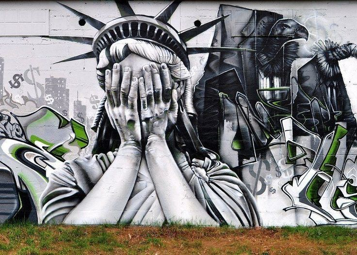""" Crying Statue of Liberty by NOK Crew. """