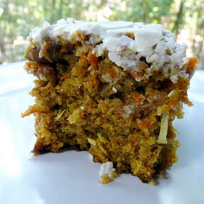 This cake is really easy to make - the hardest part is grating the carrots and that's just because I haven't been keeping up with ...