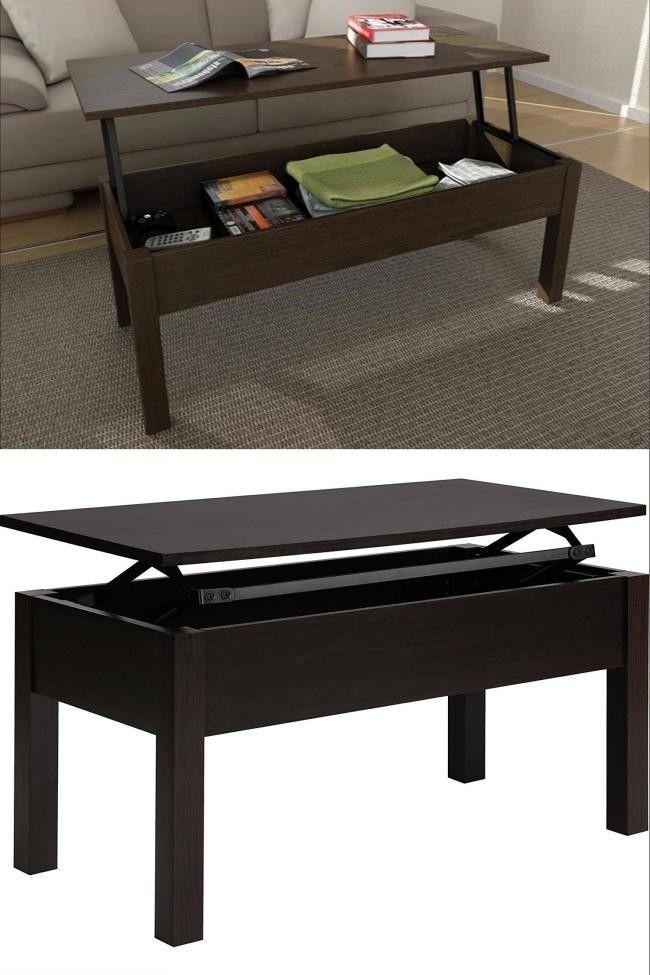 Brown Storage Coffee Table Modern Wood Living Room Wooden Lift Top Furniture  #BrownStorageCoffeeTable #Modern