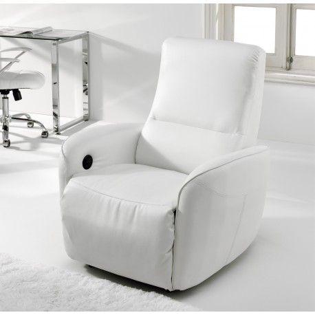 Sillón Relax modelo Cuore es justo lo que buscabas con extesión y elevación electrica con acolchado de los brazos confort  tapizado en semi piel blanco o negro.