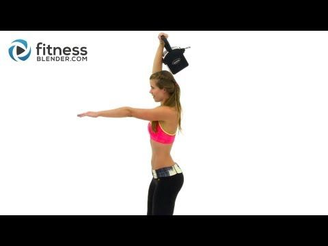 Quick and Fearless Kettlebell Cardio Workout - Ultimate Fat Burn Workout for the Entire Body - YouTube