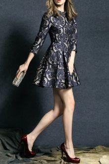 Rhinestone Mini Fit and Flare Dress
