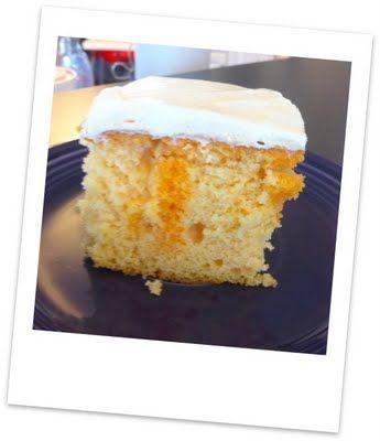 Dreamsicle Poke Cake