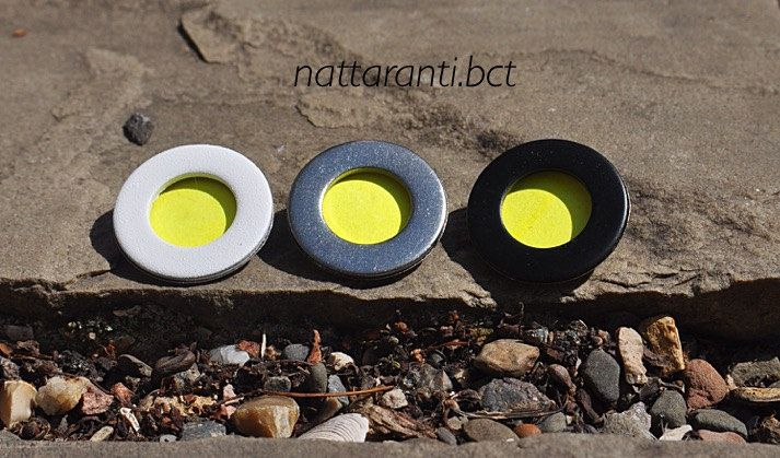 COLOURFUL handmade badges pin neon yellow pin it where You would love to :) by nattaranti on Etsy