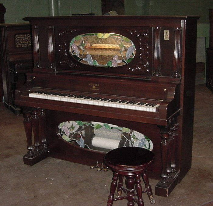 1907 Meister Coin-Operated Nickelodeon Player Piano This instrument was built from an ordinary Victorian Meister upright piano (built by the Rothschild Piano Company of Chicago), which was rebuilt and refinished with new player mechanisms added.