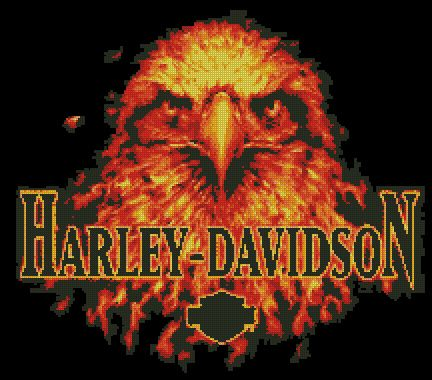 Harley Davidson Counted Cross Stitch New Stitch