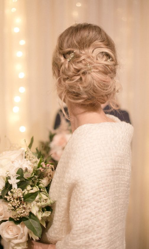 Wedding hairstyle idea; Featured Photographer: Katie Grant