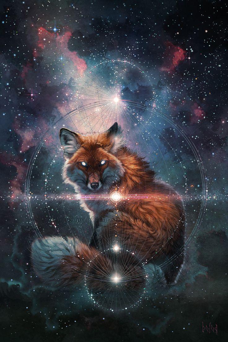 From the Stars by balaa.deviantart.com #Illustration #Fox