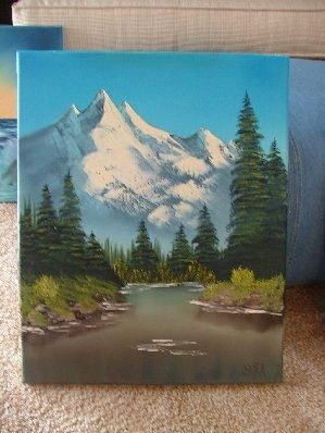 Watched Bob Ross today with Ry, Leigh-Bee, and Doug this evening. :) There was a lot of laughing.