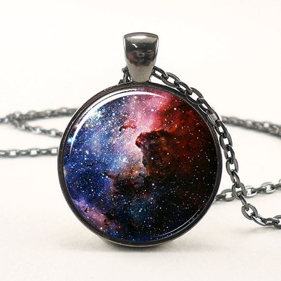 Carina Nebula Necklace Galaxy Jewelry Universe Pendant by rainnua, $14.45