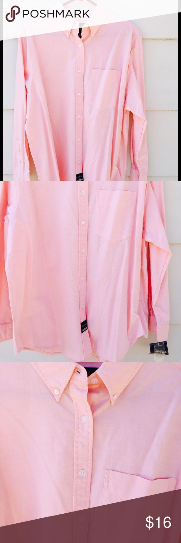 """Sonoma Jean Women's Sportswear Pink Shirt 16 W Lovely Sonoma Jean Women's Sportswear Long Sleeve Shirt Pink Strawberry Cream Size 16 W New with Tag. Measurements: Sleeves 22"""" Shoulder 9"""" Armpit 48"""" a Overall Length 38"""" Condition: New with Tag. It does have a very light not noticeable stain on the fron right portion of the shirt close to the bottom. Sonoma Jean Tops Button Down Shirts"""