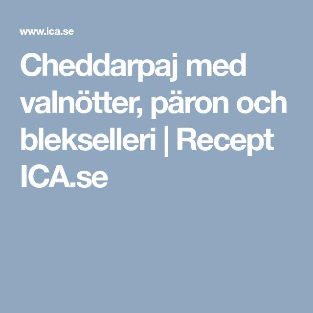 Cheddarpaj med valnötter, päron och blekselleri | Recept ICA.se