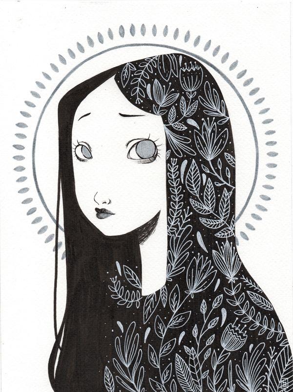 hair illustration ideas