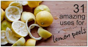 31 Uses For Lemons Peels That Will Blow Your Socks Off | REALfarmacy.com  Some of these are tried and true, others are new to me; all are great ideas!