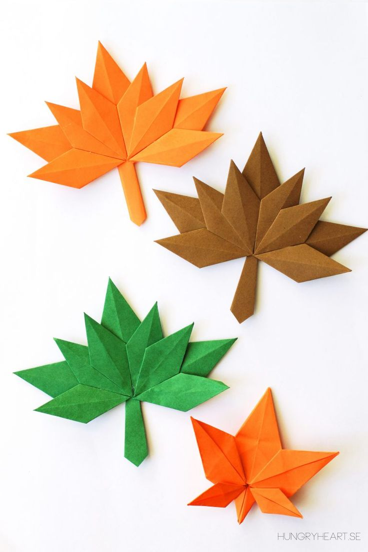 DIY Paper Fall Leaves