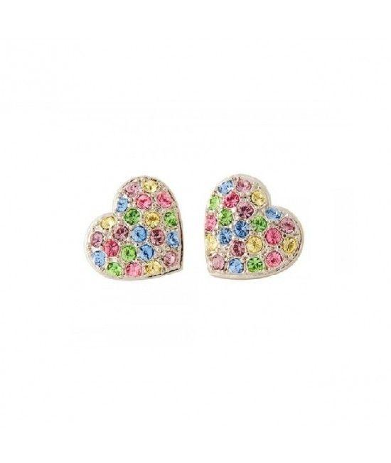Cerceii Rainbow Heart sunt decorati cu mici cristale colorate, ce vor oferi stralucire si culoare tinutelor de zi, cat si de seara. Sunt cadoul perfect pentru domnisoarele ce pun pret pe detaliile tinutelor lor !