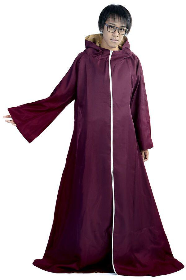 Naruto Shippuden Cosplay Costume Yakushi Kabuto Hoodie Cloak Robe V2