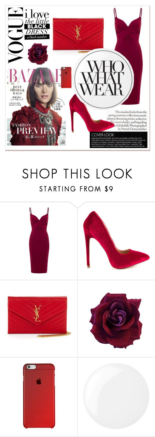 """Untitled #95"" by alexanutella on Polyvore featuring Aloura London, Liliana, Yves Saint Laurent, Essie and Who What Wear"