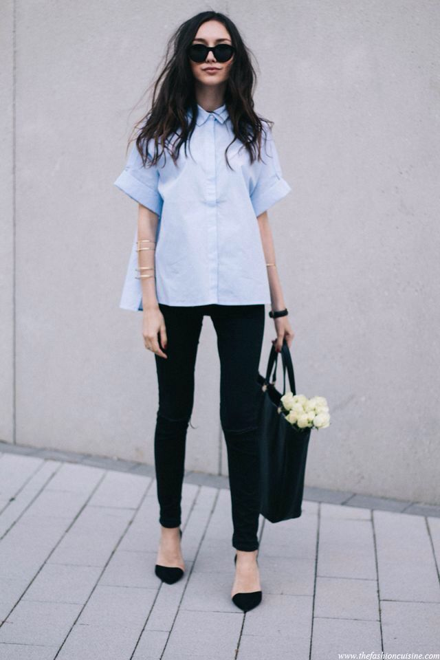 Get all your fall fashion inspiration and style tips at http://dropdeadgorgeousdaily.com/2015/05/reinvent-denim-shirt-season/