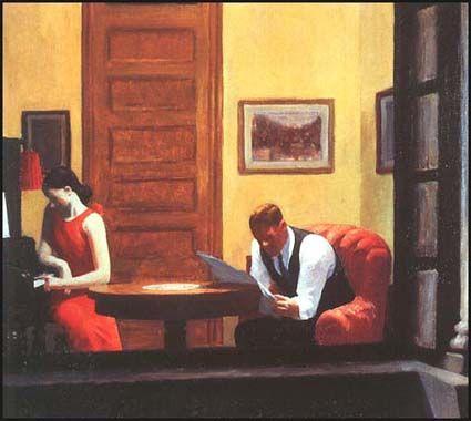 Edward Hopper, Room in New York (1932)