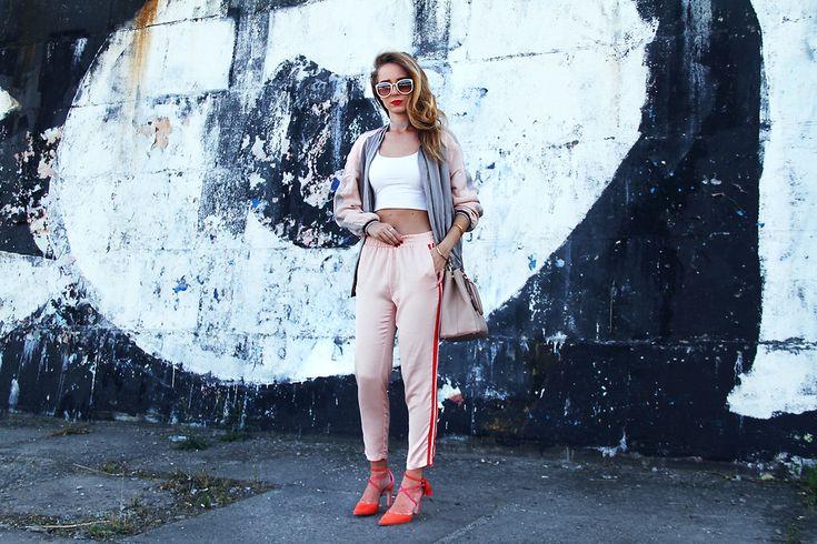 Anna Gotsyk - Zara Bomber, Stradivarius Pants, Prada Bag, Boden Shoes - Silk. Summer. Pastels.
