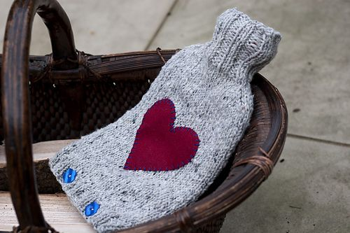 """Warm Wishes Hottie Cover by Helen Stewart - This pattern is currently FREE with code KNITAID at check out in support of Knitaid""""s work to keep refugees warm this winter xo Check out Knitaid's work here and other ways you can help. If you purchase this pattern during Nov-Dec 2016 I will donate 100% to Knitaid"""
