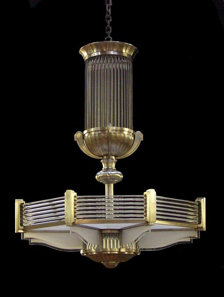 Art Deco chandelier in a style similar to that of Atelier Petitot