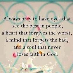 To live by prayer.