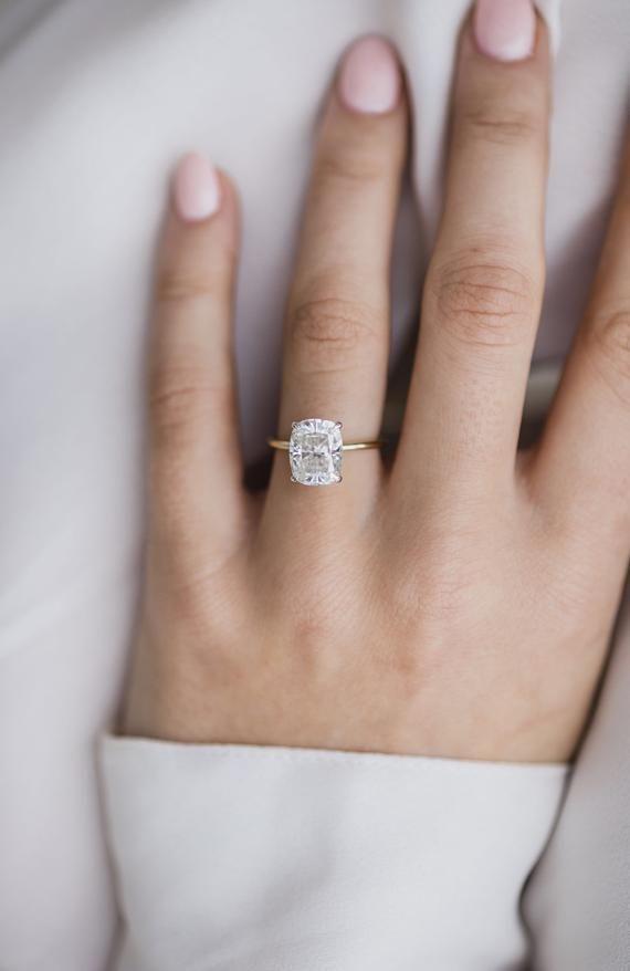 Engagementrings Moissanite Engagement Ring Solitaire Classic Engagement Rings Unique Engagement Rings