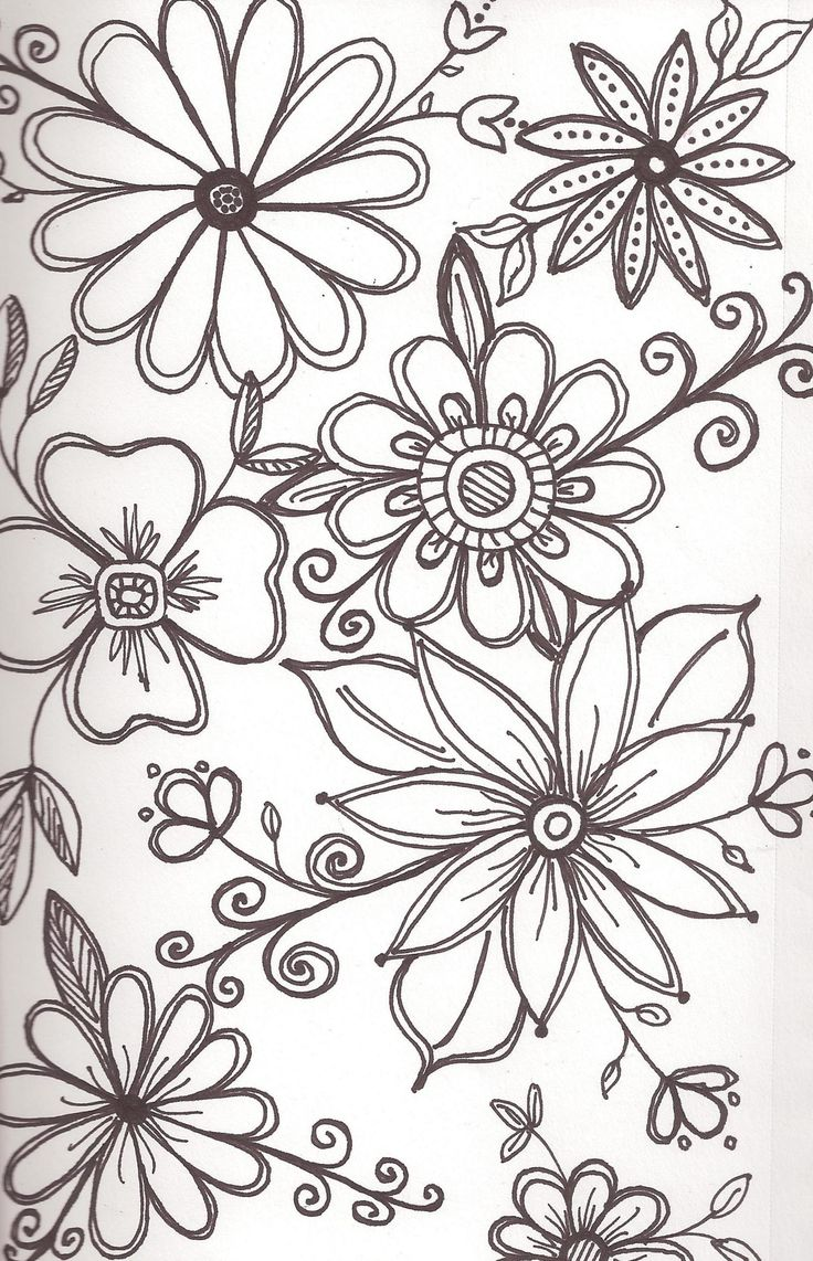 ~art Enables Us To Find Ourselves And Lose Ourselves At The Same Time ~  Flower Pattern Drawingdrawing Flowersdoodle