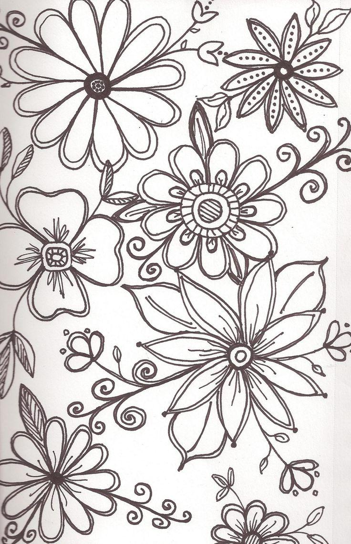 Flower doodling