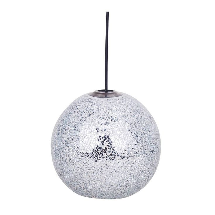 Silver Mosaic Crackle Ceiling Pendant Shade