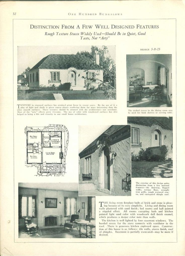 1927.100 bungalows of frame and masonry construction