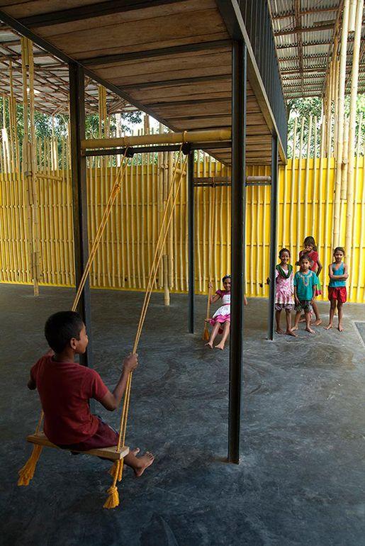 Centro Comunitario Pani en Bangladesh, por SchilderScholte architecten. | Metalocus