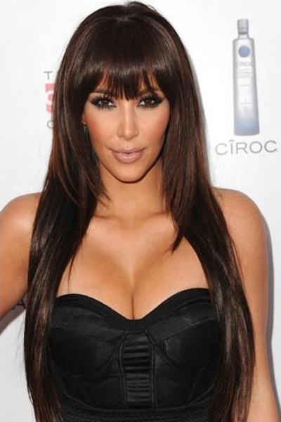 Straight Layered Brown Hair with Fringe