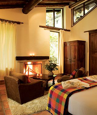 Most Romantic Hotel Fireplaces: Inkaterra Machu Picchu Pueblo Hotel