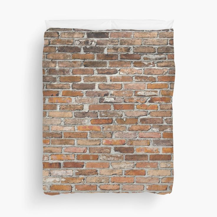 How cool and awesome would this brick duvet cover look in any bedroom, something very different.