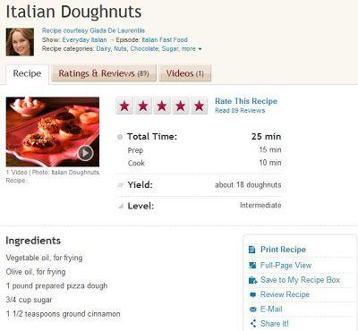 158 best food network images on pinterest murmuracin estrellas y food network gossip pizza dough doughnuts is a giada de laurentiis recipe forumfinder Image collections