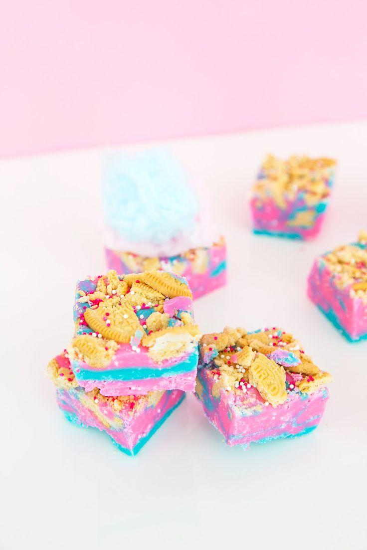 » Loaded Cotton Candy Fudge Recipe