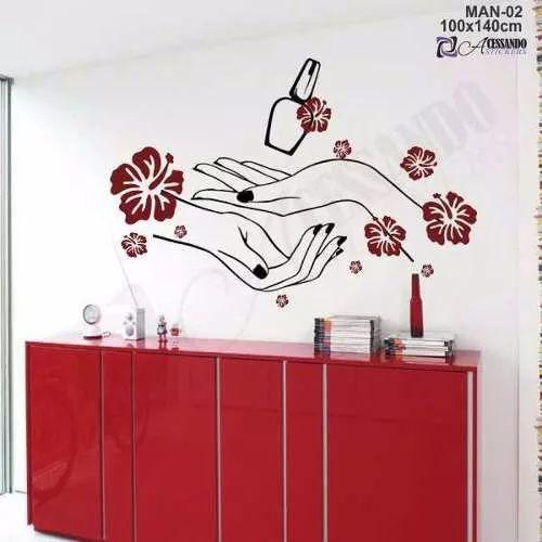 adesivo de parede  manicure - salão de beleza - cabeleireiro