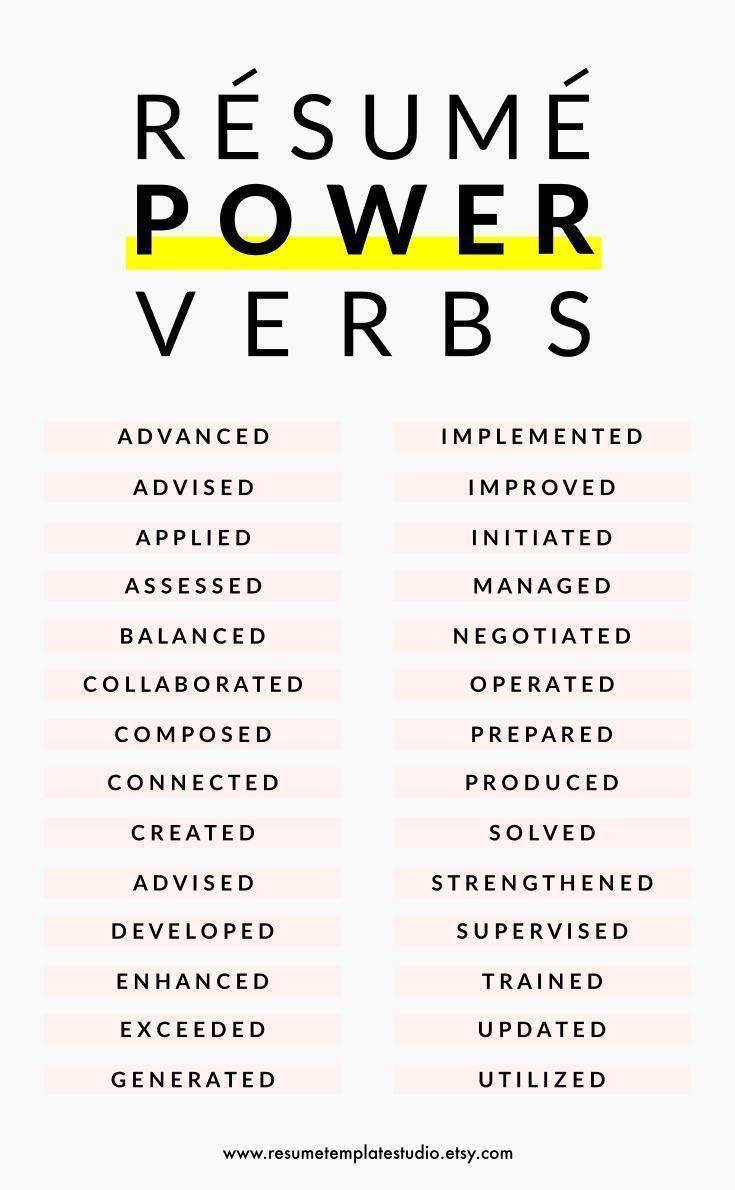 Setzen Sie Power-Verben und Resume-Tipps fort, um … – #career #fort #PowerVerb…