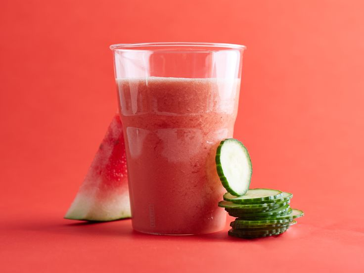 Watermelon-and-Cucumber Smoothie: This uber-refreshing smoothie is loaded with vitamin C, thanks to its watermelon. Keep chunks of watermelon in your freezer all summer long so you can blend this up anytime.