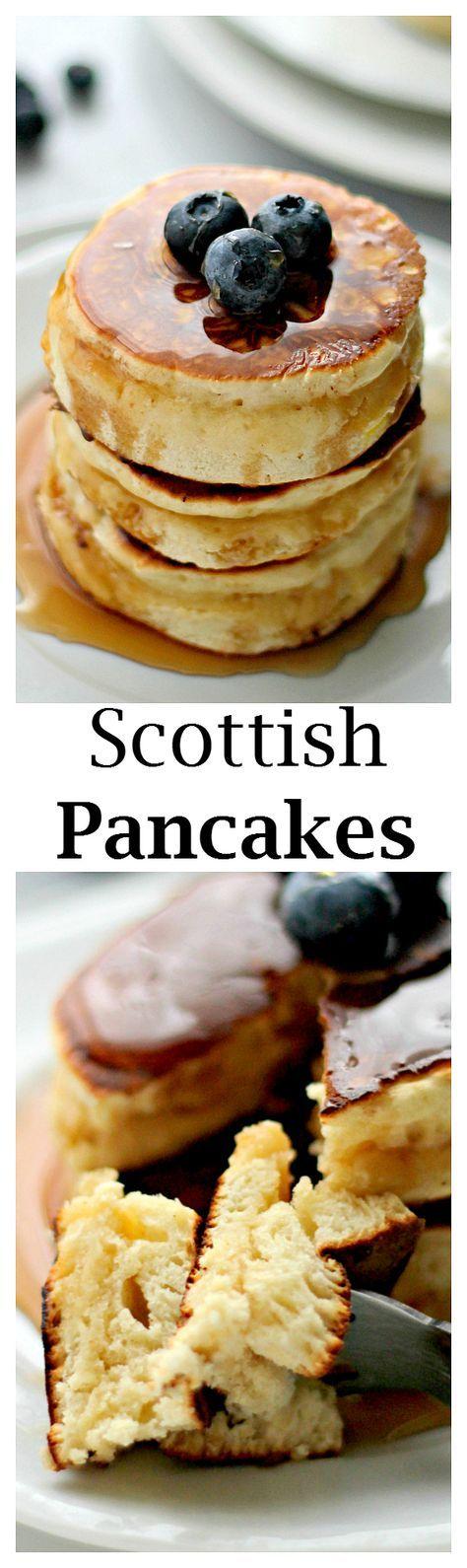 Schottische Pfannkuchen | www.diethood.com | Dies sind die flauschigsten, süßesten, …