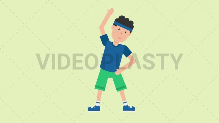Download: http://ift.tt/2w9488P  A man wearing a blue t-shirt green shorts and a blue headband is doing warm up or stretching exercises  Two version are included: normal (with a start animation) and loopable. The normal version can be extended with the loopable version  Clip Length:10 seconds Loopable: Yes Alpha Channel: Yes Resolution:FullHD Format: Quicktime MOV  For more royalty free video assets visit: https://videoplasty.com
