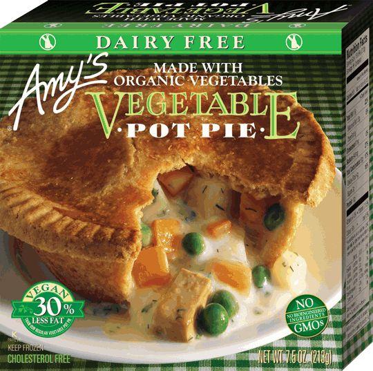 Non Dairy Vegetable Pot Pie Vegan Frozen Meals