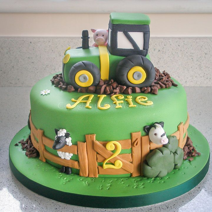 Farmyard Cakes Farm Tractor And Animals