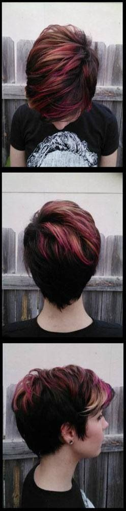 I'm thinking of doing a pink with this style; but bleaching the parts that are pinker here and dying my whole head pink to get different shades